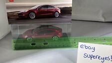 Original Tesla motor Model 3 1:43 Scale Diecast Model Car RED Rare