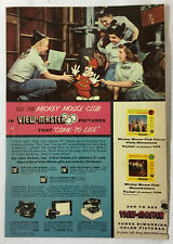 1956 View-Master ad page ~ MICKEY MOUSE CLUB ~ Annette Funicello, more