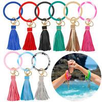 Silicone Keyring Bracelet Bangle Keychain Wristlet Key Ring Car Key Chain Holder