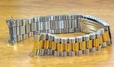 20mm Curved President Style Two Tone Stainless Metal Watch Band Bracelet