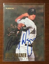 BILLY WAGNER 1996 FLEER AUTOGRAPHED SIGNED AUTO BASEBALL CARD 422 ASTROS