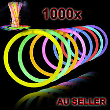 New 1000 Mixed Colour Glow Sticks Bracelets Light Party Glowsticks Glow in dark