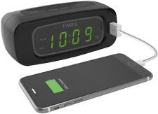 Nib Timex Led Display Alarm Clock Usb Universal Charger Snooze Battery Backup