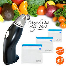 Portable Handheld Food Vacuum Sealer | 30 x Reusable Cryovac Vacuum Sealer Bags