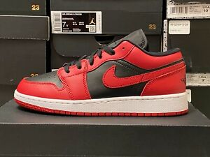 Air Jordan 1 Low REVERSE BRED CT1564-003 Gym Red/Black White YOUTH Boys/Girl NEW