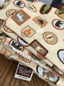 Woolrich Kids Camping boy scouts Theme Twin fitted and flat sheet set pillowcase