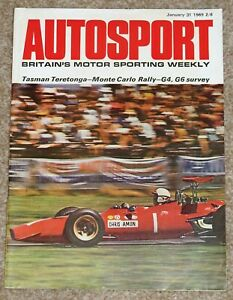 Autosport 31/1/69* MONTE CARLO RALLY REPORT - 1968 GROUPS 4 and 6 REVIEW