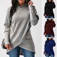 Fashion Women Casual Long Sleeve Hoodie Jumper Pullover Sweatshirt Tops Shirt US