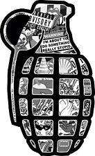 GRENADE STICKER BOMB RATLOOK CAR STICKER/DECAL JDM TOKYO DRIFT BLACK WHITE GREY