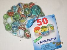 50 Marbles & 1 Shooter Marble - Old School Game/Toy Collect & Play Boys & Girls