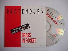 PRETENDERS : BRASS IN POCKET [ CD SINGLE french promo only ! ] ~ PORT GRATUIT !