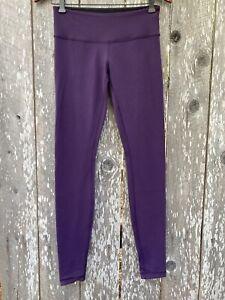 lululemon leggings size 6 purple Plum yoga Jogging Hiking Pilates ⭐️8584