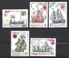 Bateaux URSS (91) série complète de 5 timbres oblitérés
