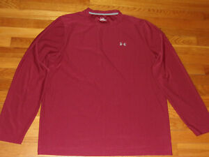 UNDER ARMOUR HEATGEAR LONG SLEEVE MAROON JERSEY MENS XL EXCELLENT CONDITION