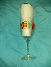 "Happy Birthday Wine Glass 7.25"" Tall Candles Party Glass Bright Festive Drinking"