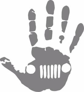 """Wave Hand (1 Right, 1 Left-Handed) Vinyl Decal Sticker 