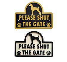 Weimaraner - Please Shut The Gate - 3D Dog Plaque - House Garden Door Wall Sign