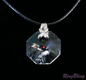 REDUCED! CRYSTAL PENDANT NECKLACE, Stainless Steel Chain & FREE Waxed Cord! 50%