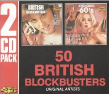 50 BRITISH BLOCKBUSTERS 2CD FATBOX ex cond. LULU Gerry Poole Freddie Fortunes