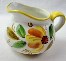 FTD Ceramic Flower Pitcher Container Hand Painted Italy Bright Decor Collectors
