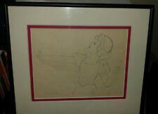 1937 Rare Walt Disney Snow White Original Production Drawing Cel Snow singing