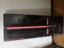 Star Wars Kylo Ren Black Series Force FX Deluxe Lightsaber Opened Box.