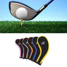 1 Set of 10pcs Neoprene Golf Club Iron Headcovers Head Cover Protect Case Covre