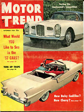 Motor Trend Magazine September 1956 Continental's Competition VGEX 122115jhe