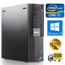 PC COMPUTER DESKTOP RICONDIZIONATO DELL 980 QUAD CORE i7 8GB 500GB WINDOWS 10