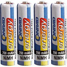 Conrad Energy 250400 AAA Rechargeable Battery x4 NiMH 700mAh 1.2V