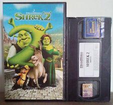 VHS FILM Cartoni Animati SHREK 2 dreamworks 748301477D01 Ex Nolo no dvd cd(VH61)