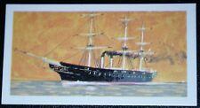 HMS WARRIOR  Royal Navy Iron Battleship        Illustrated Colour Card