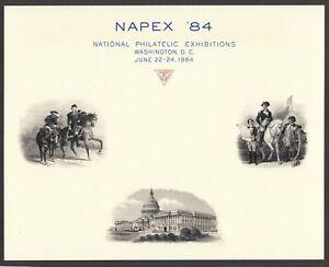 1984 NAPEX Washington DC F-1984A engraved vignettes Philatelic Exhibit