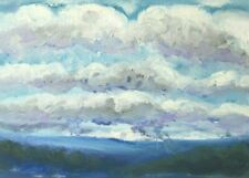 Original Oil Painting of Clouds Over South Yorkshire No 3 by Ann Marie Whitton