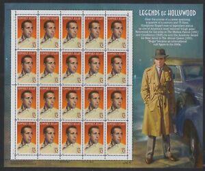 #3152 Legends of Hollywood Humphrey Bogart 32c Pane of 20 MNH XF CV $17.00