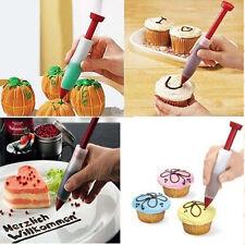 Silicone Fondant Cake Pen Pastry Icing Writing Syringe Baking Decor Tool DIY New