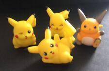 4 X Bandai Hollow Pokemon Figures Pikachu Raichu - Save £2 Multi-buy