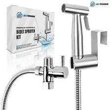 JET SPARGO Hand Held Toilet Bidet Sprayer Bathroom Shower Kit with T Adaptor