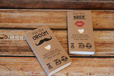 Wedding favour tissues for the bride and groom and family members