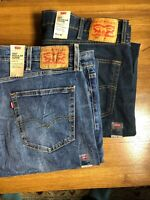 (2) Pair Levi's 502 Regular Taper Fit Jeans - Stretch Size-42 X 38 Retail $159🔥