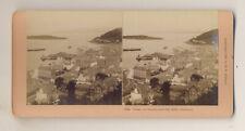 Stereoview: Oban harbour, Scotland, 1891, by Kilburn