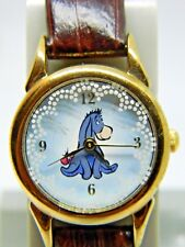 Eeyore from (Winnie the Pooh) watch leather band new battery lot 555