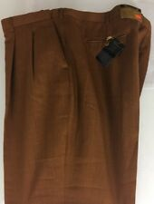 NWT FALCONE PLEATED 90% POLYESTER 10% RAYON SUMMER RUST PANTS MEN'S SIZE 52/37