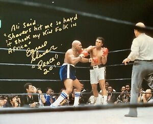 Ernie Shaver Heavyweight Boxing Legend signed approx 10 x 8 Photo