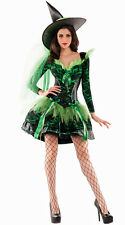 Sexy Party King Wicked Emerald Witch Green & Black Shaper Dress Costume PK356