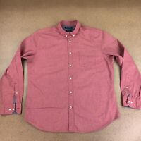 Banana Republic Men's Size Large Camden Fit Red Long Sleeve Button Front Shirt