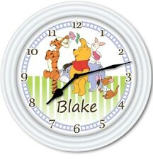 Winnie The Pooh PERSONALIZED Wall Clock - Disney Baby Nursery Kids Bedroom GIFT