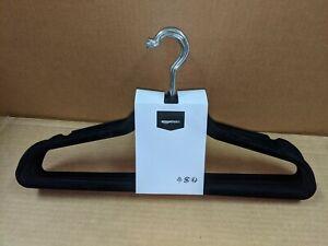 AmazonBasics AQ-M0002 Black Velvet Suit Hangers - 10 pack