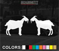Set of 2 Billy Goat Decals Stickers Turbo Truck Hunt Race Kayak Diesel Car Farm