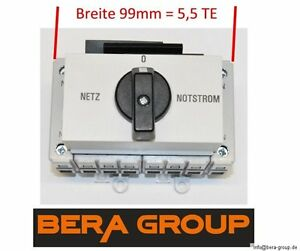 63A 400V Notstromumschalter Netzumschalter Notstrom Netz Last Umschalter Einbau